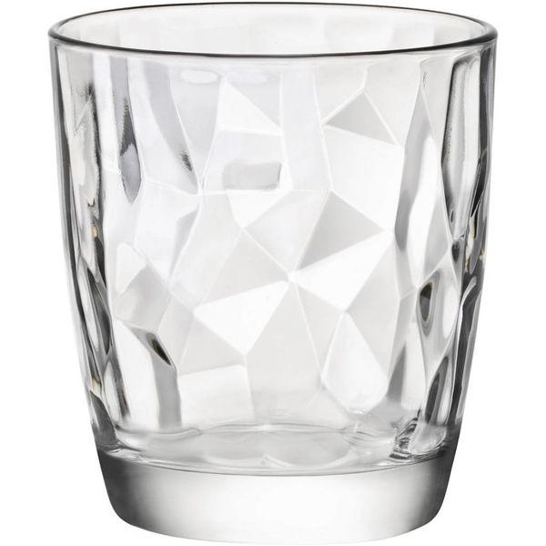 Bormioli Set of 4 Diamond Glasses