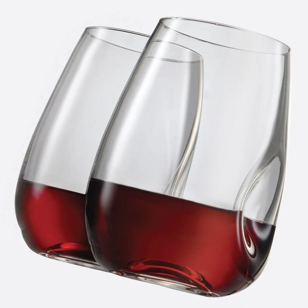 TRUDEAU SET OF 4 GEM STEMLESS WINE GLASSES - 16 OZ