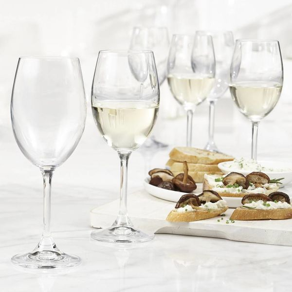 Trudeau Bohemia Set of 6 Serene White Wine Glasses