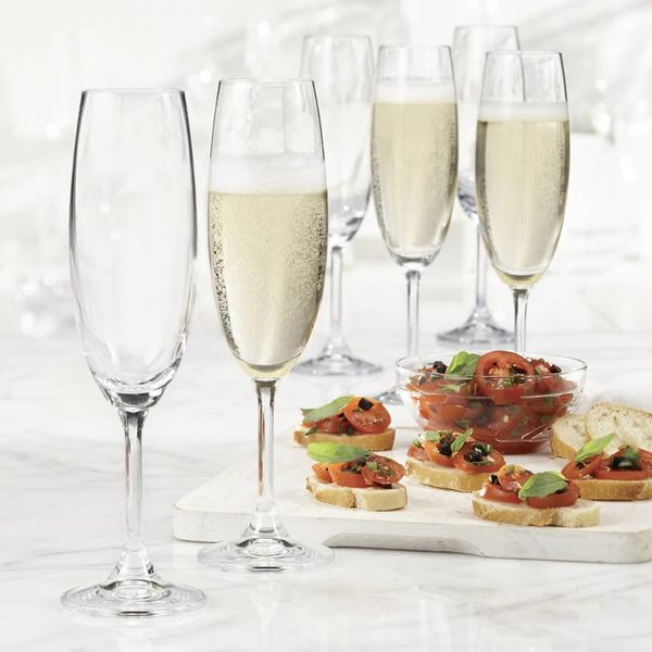 Ensemble de 6 flûtes à Champagne Serene de Bohemia