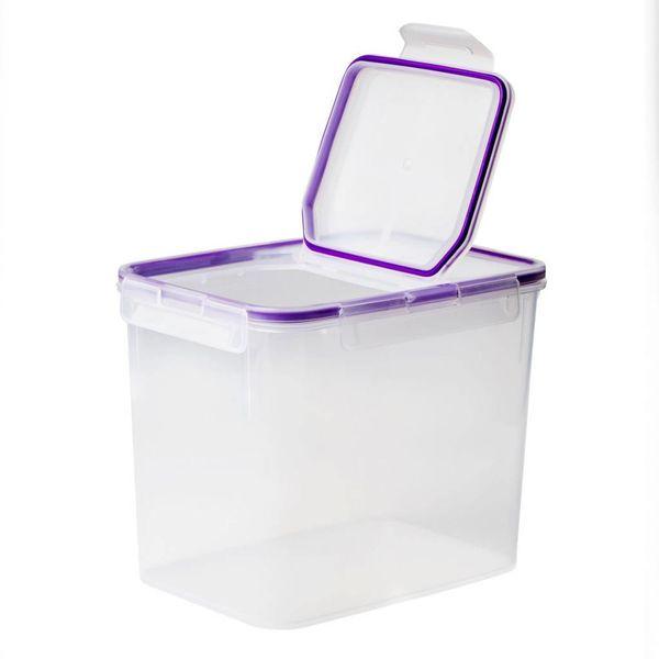 Contenant en plastique rectangulaire 17-tasses avec couvercle rabattable hermétique de Snapware