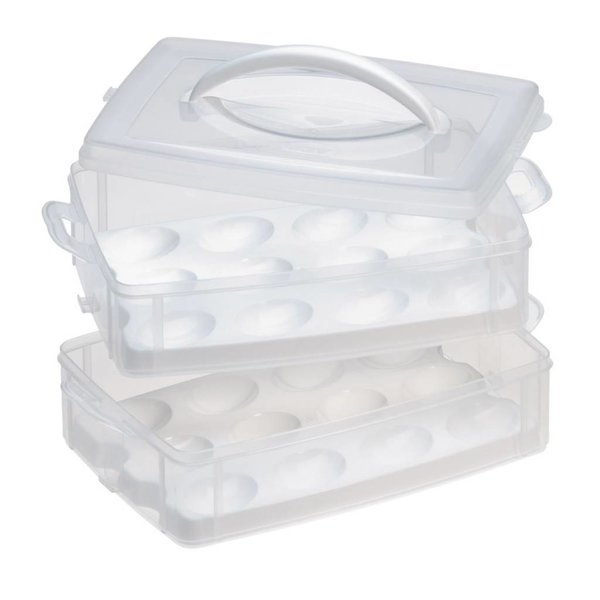 Snapware Snap'N Stack 2-layer Food Storage with Egg Holder Trays