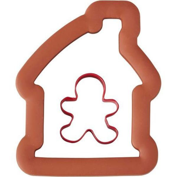 wilton GINGERBREAD HOUSE AND BOY COOKIE CUTTER SET