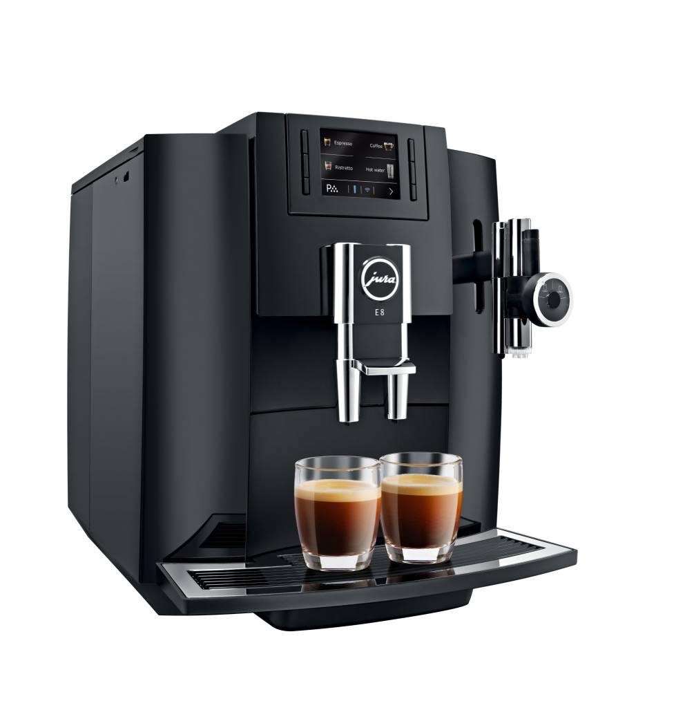 jura e8 black automatic espresso machine ares cuisine. Black Bedroom Furniture Sets. Home Design Ideas