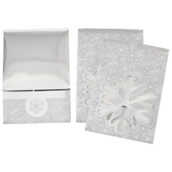 Wilton SILVER SNOWFLAKE TREAT BOXES, 3-PIECE