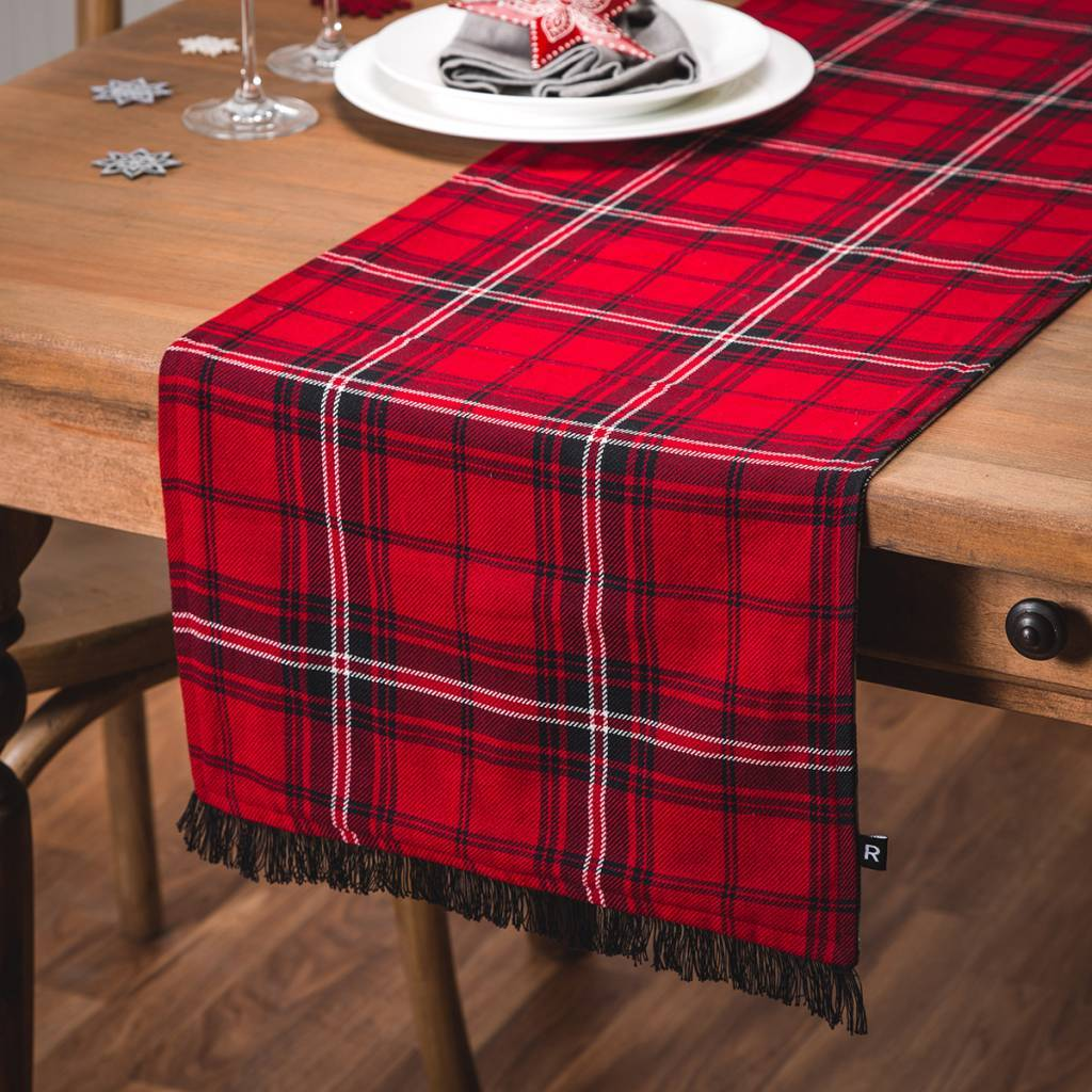 Chemin de table r versible carreaux ricardo ares cuisine for Tablier de cuisine ricardo