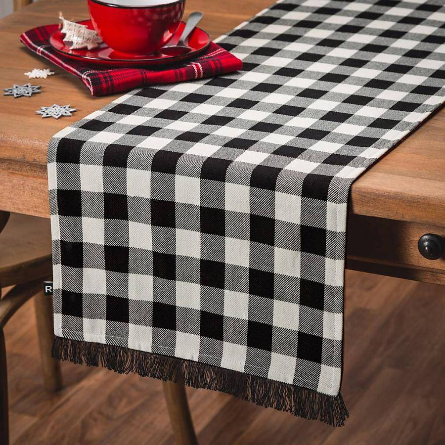 chemin de table r versible carreaux ricardo ares cuisine. Black Bedroom Furniture Sets. Home Design Ideas