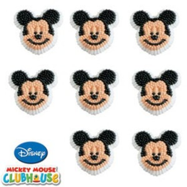 Wilton Mickey Mouse Icing Decoration - 9 Pieces