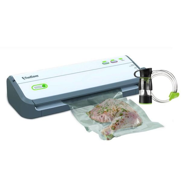FoodSaver Countertop FM2010 Vacuum Sealing System with Starter Kit & Handheld Fresh Sealer