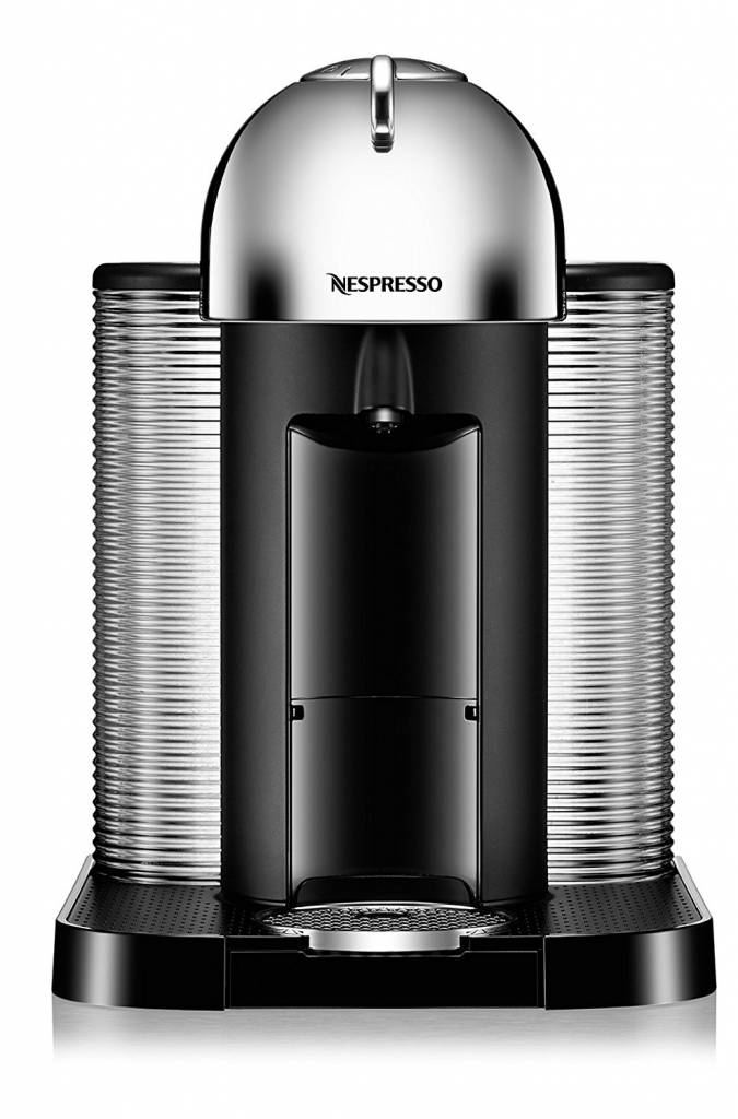 nespresso vertuo coffee and espresso machine by breville chrome ares cuisine. Black Bedroom Furniture Sets. Home Design Ideas