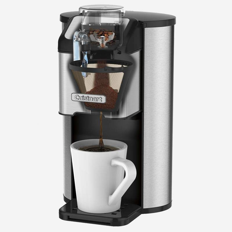 Cafeti re une tasse avec moulin int gr grind and brew de cuisinart ares cuisine - Machine a cafe avec broyeur integre ...