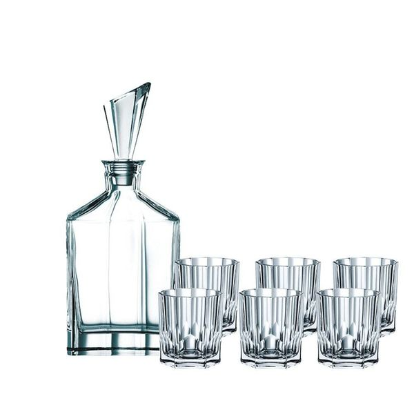 Ensemble de 6 verres à Whisky et Décanteur de Nachtmann