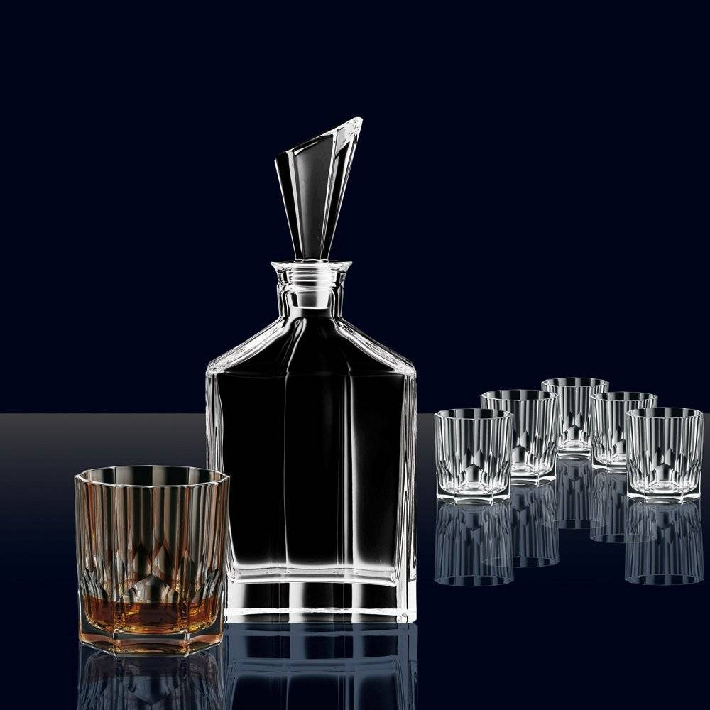 nachtmann whisky set with decanter and 6 glasses crystal. Black Bedroom Furniture Sets. Home Design Ideas
