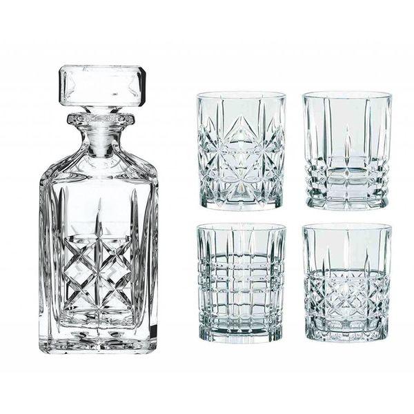"""Ensemble de 4 verres à Whisky et Décanteur """"Highland"""" de Nachtmann"""