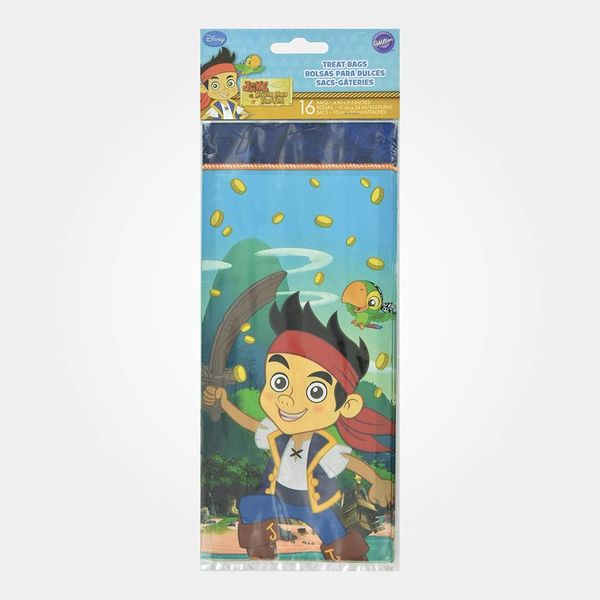 Wilton Set of 16 Disney Jake and The Never Land Pirates Treat Bags