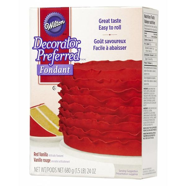WILTON® DECORATOR PREFERRED™ FONDANT, RED VANILLA