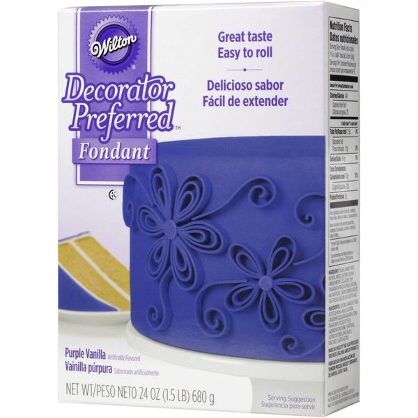 WILTON® DECORATOR PREFERRED™ FONDANT, PURPLE VANILLA
