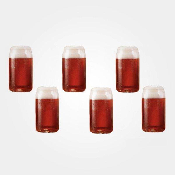 Luminarc Set of 6 Craft Brew Taster Can Beer Tasting Glasses
