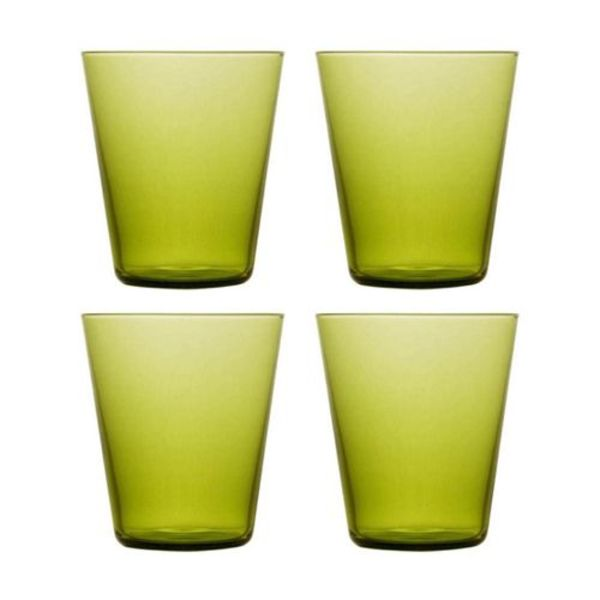 """Ens. de verres """"Boho"""" de Brilliant Vert Forêt"""