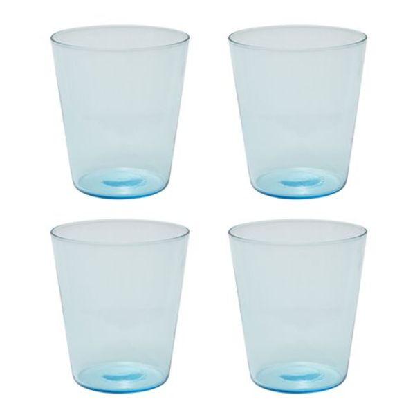 """Ens. de 4 verres """"Boho"""" de Brilliant Bleu Océanique"""