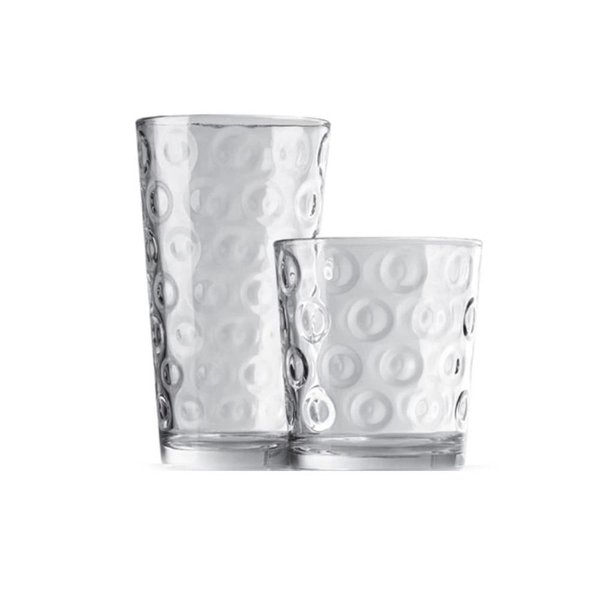 "Pasabahce 12-Piece ""Rings"" Drinking Set"