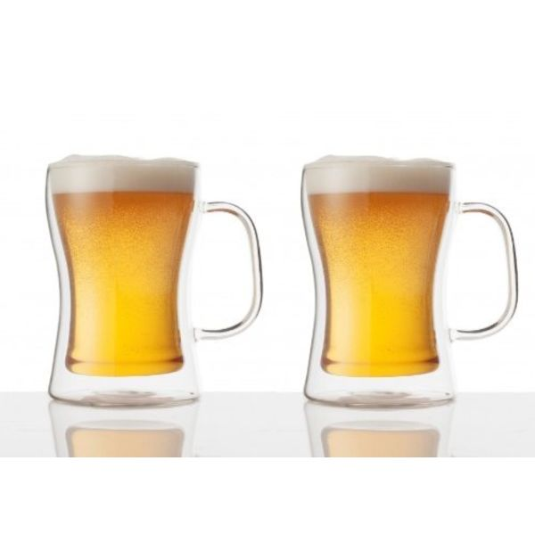 Double Double Beer Mug 475ml set of 2 by Brilliant