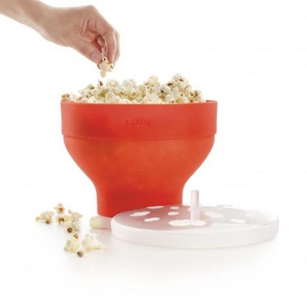 Bol Popcorn avec couvercle Lékué