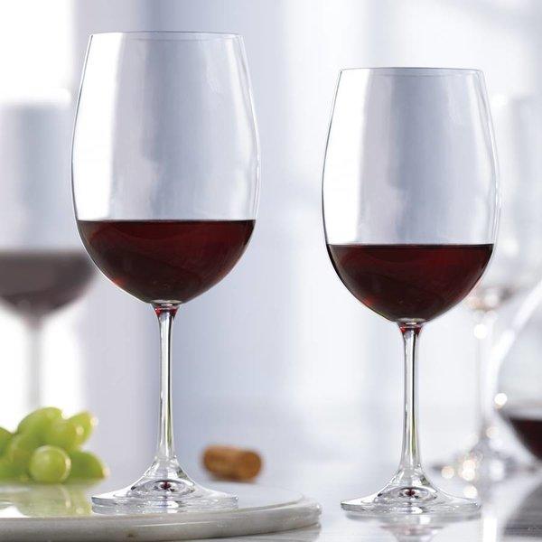 Ensemble de 4 verres en cristalline  à vin rouge de Mann