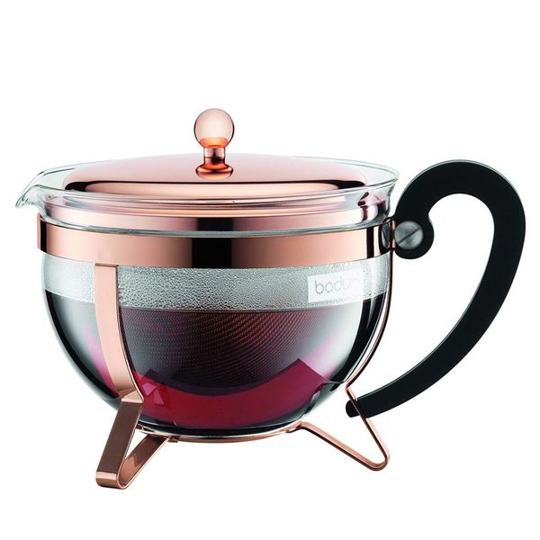 Copper Chambord Tea Pot by Bodum
