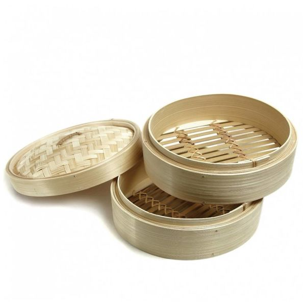 "3 Piece Bamboo 8"" Steamer Set by EMF"