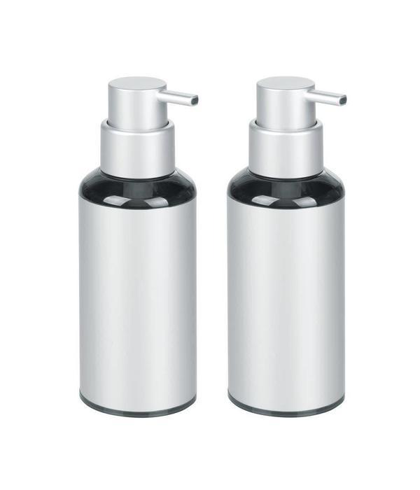 pompe savon aluminium metro de argent de interdesign ares cuisine. Black Bedroom Furniture Sets. Home Design Ideas