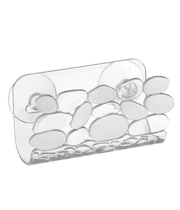 Support pour vier pebblz avec ventouse de interdesign ares cuisine - Ventouse pour deboucher evier ...