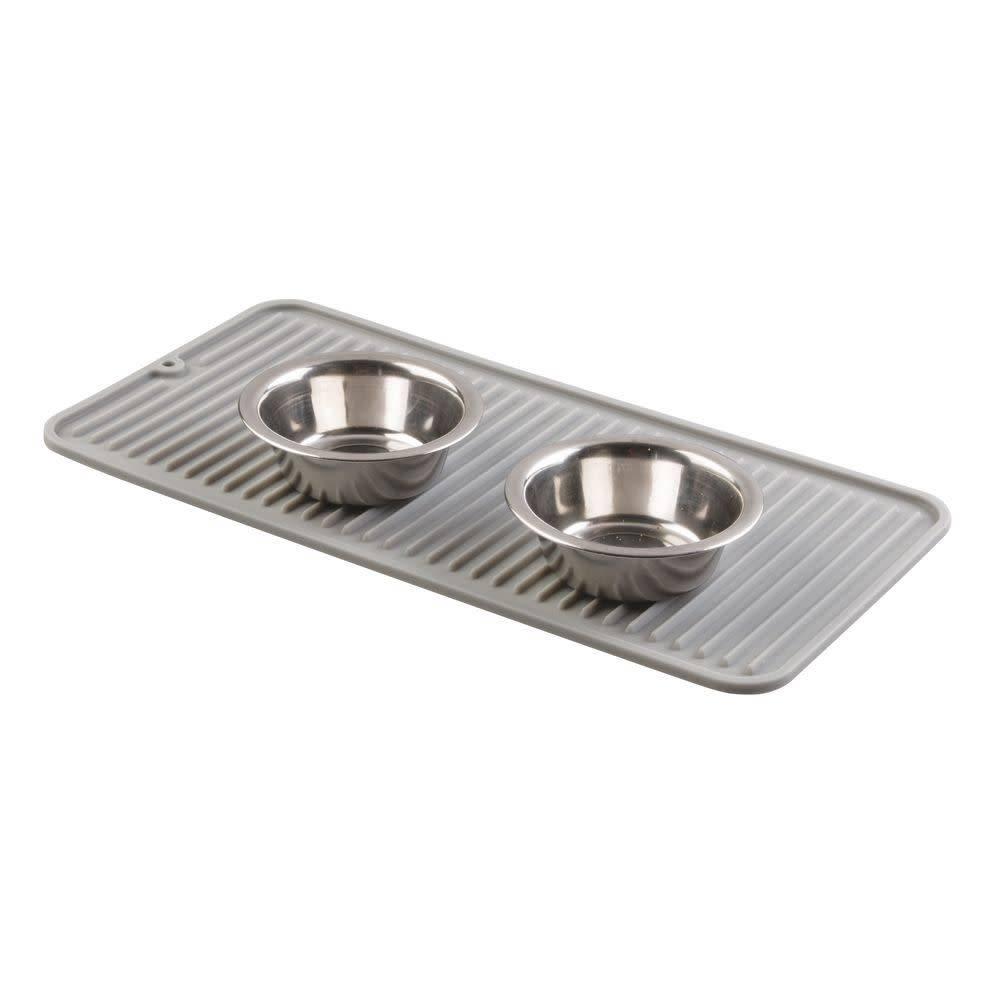 Tapis de vaisselle rouge et gris lineo de interdesign for Tapis de cuisine rouge et gris