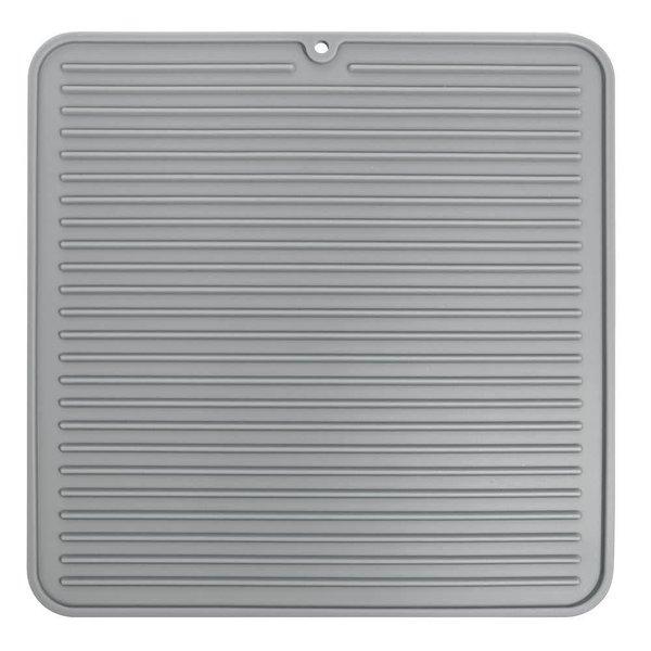 Tapis de vaisselle gris moyen format Lineo de InterDesign
