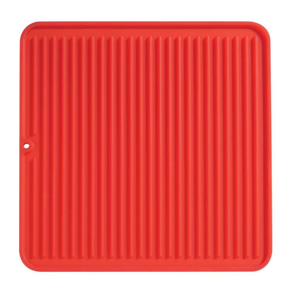 tapis de vaisselle rouge moyen format lineo de interdesign ares cuisine. Black Bedroom Furniture Sets. Home Design Ideas