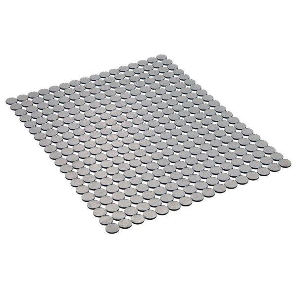 Tapis d'évier graphite grand format Orbz de InterDesign