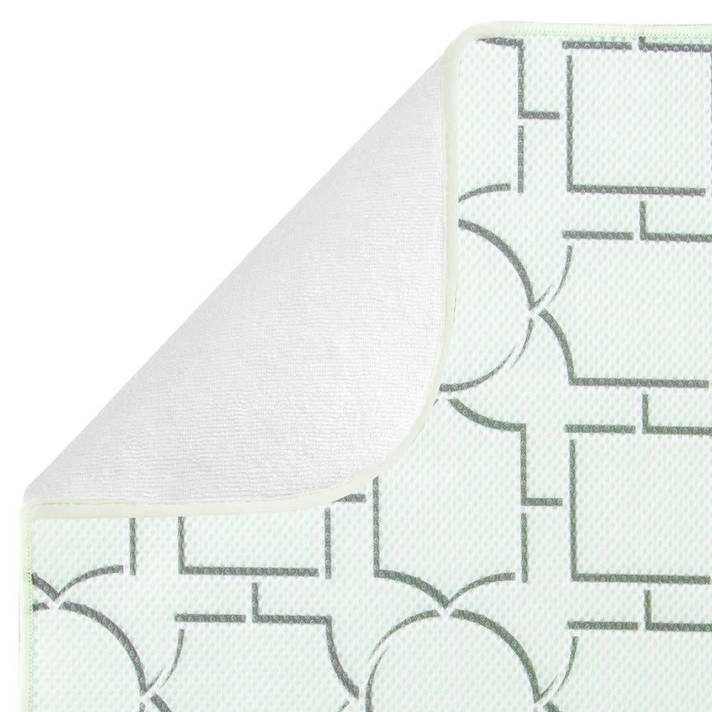 interdesign tapis de cuisine treillis grand format idry de