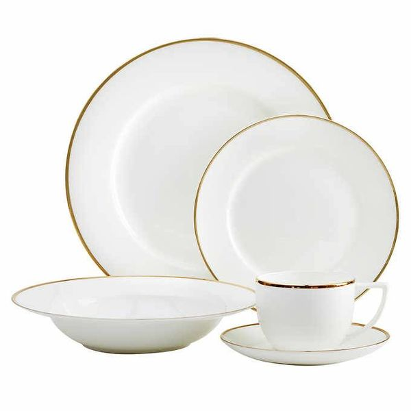 Luxe Gold Rim 20-piece Dinnerware Set by MANN