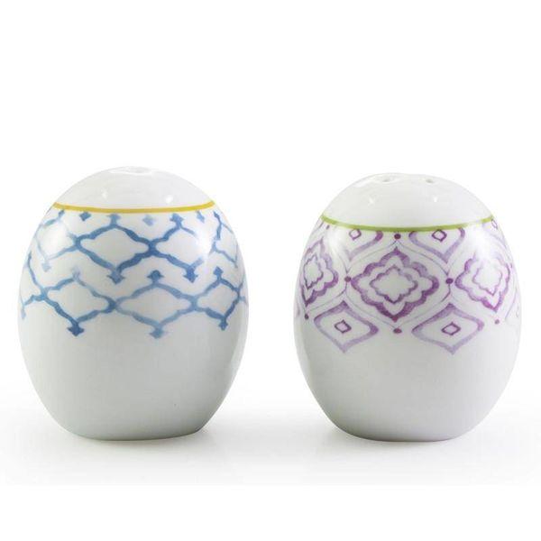 Salière et poivrière porcelaine MARRAKECH par BIA