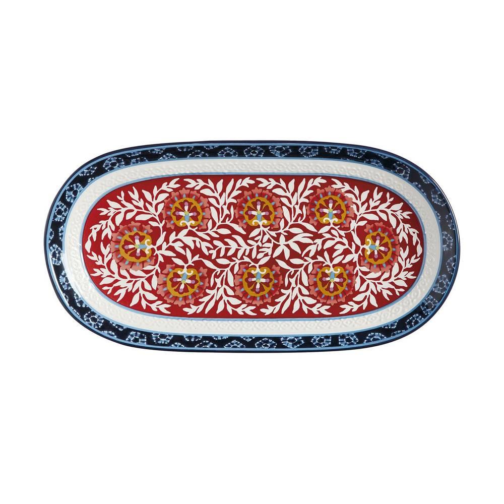 Plateau de service ovale boho 33 x 17cm accessoires de for Ares accessoire de cuisine