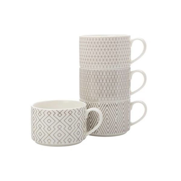 Set of 4 Stackable Ichacha Mugs by Maxwell & Williams