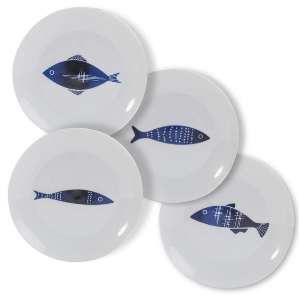 Set of 4 Living Art ADRIATIC Plates
