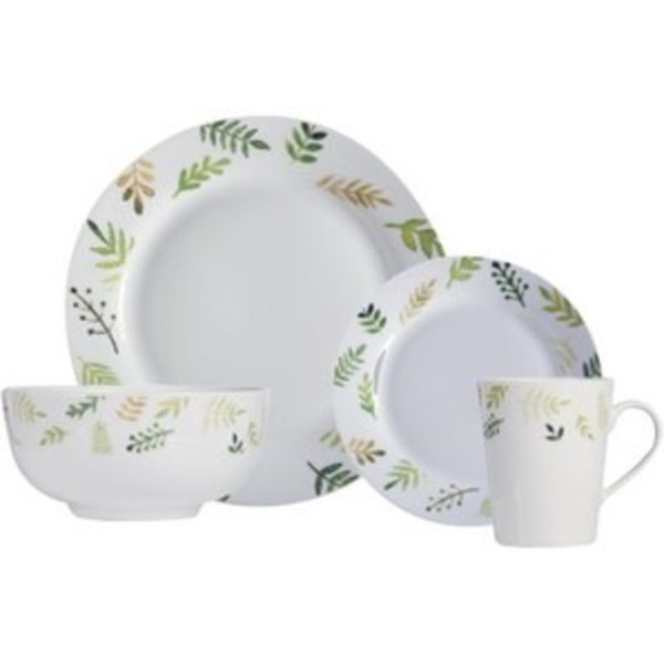 "16pc ""Greenery"" Dinnerware Set by H2K"