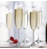 Ensemble de 4 Flûtes à champagne en cristalline par Mann