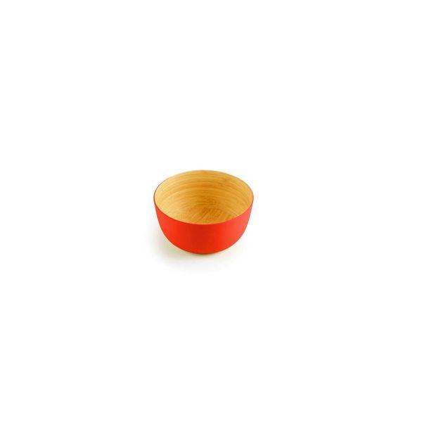 ICM Set of 4 Bamboo Bowls Papaya