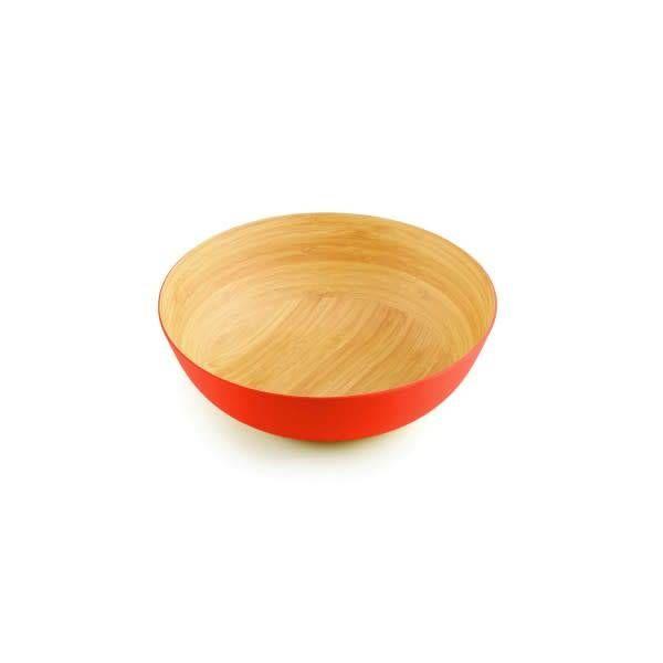 ICM Bamboo Bowl  30cm Papaya