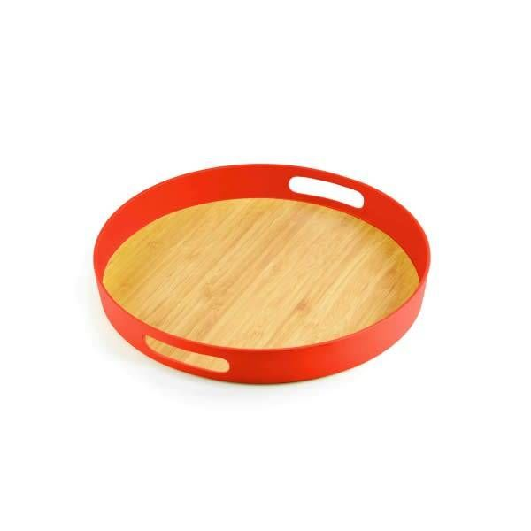 ICM  Bamboo Round Tray 30cm Papaya