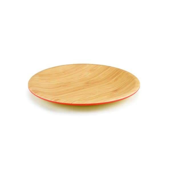 Ensemble de 4 assiettes 26.5cm en bamboo papaye de ICM