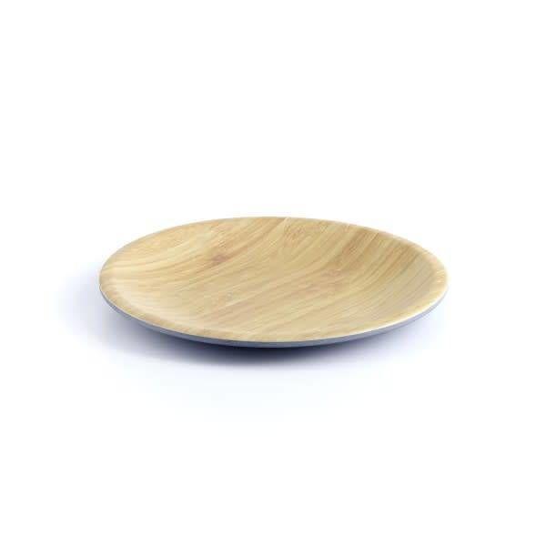 Ensemble de 4 assiettes 20 cm en bamboo gris de ICM