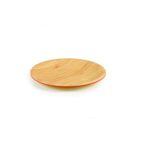 ICM Set of 4 Bamboo Round Plates 20cm Papaya